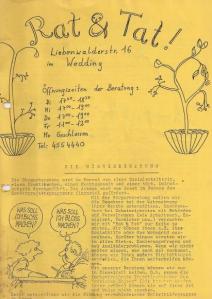 """""""Rat & Tat"""" – Kiezzeitung der Bürgerinitiative Wedding von 1982"""