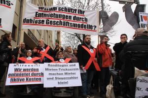 Koloniestraße Mieter-Protest